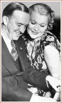 Stan Laurel, film comedian, and his third wife, Vera Ivanova Shuvalova