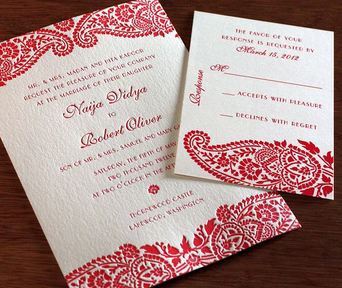 54 best customize motifs images on pinterest wedding a floral paisley design mirrored on the top and bottom of our naija design letterpressed spring wedding invitationswedding stopboris