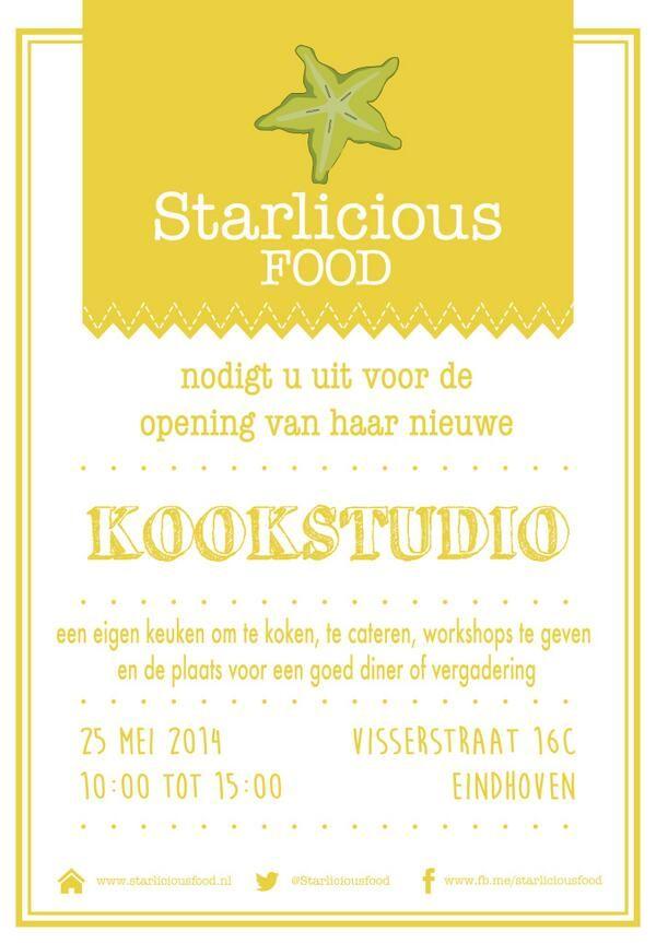 OPENING StarliciousFood Kookstudio Eindhoven | Starlicious FOOD