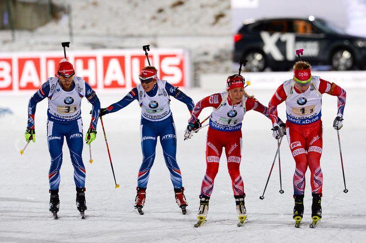 International Biathlon Union / Norway Double: Wins Mixed Relay