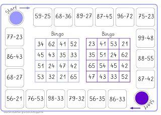 2 Bingos zur Subtraktion