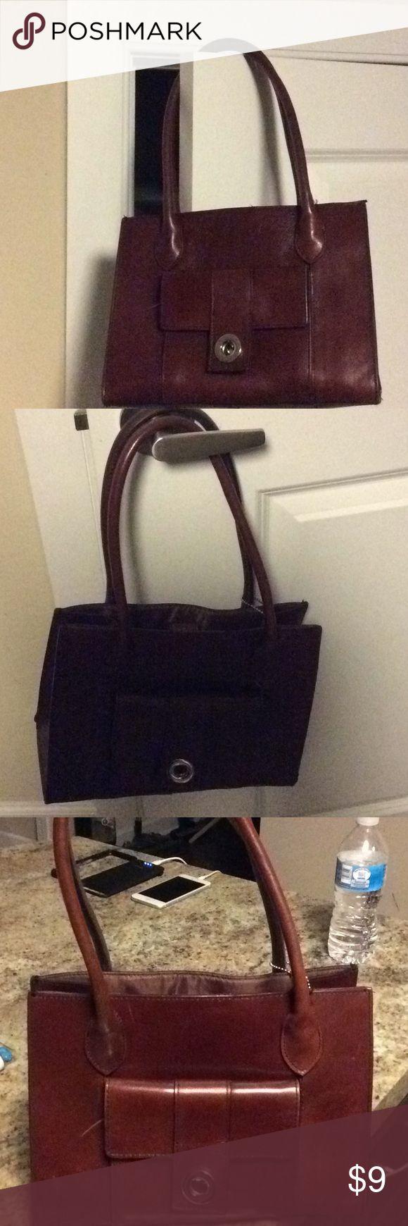 Ladies all leather handbag. Ladies all leather handbag. A lot of compartments. Pelle Studio Bags Satchels