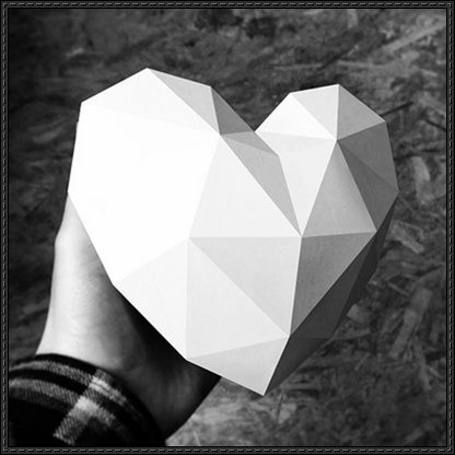 Valentines Day 3D Heart Ver4 Free Papercraft Download