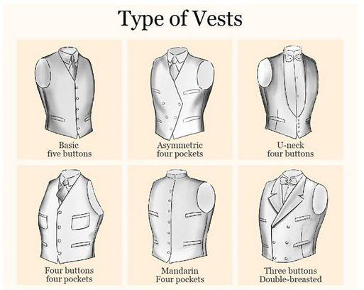 6 Common Menswear Vest Styles