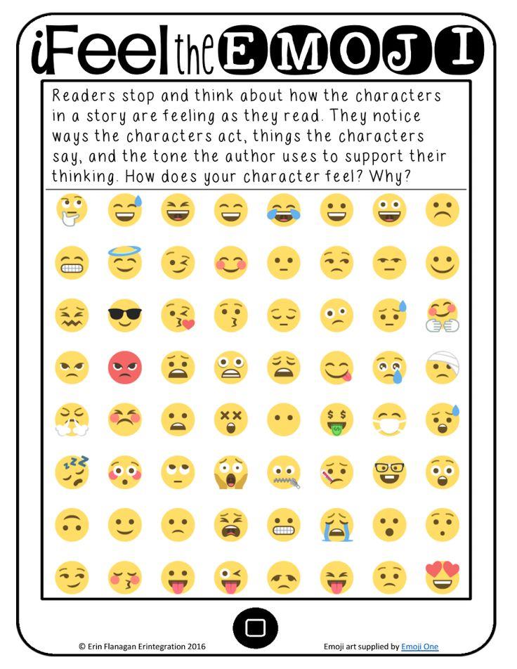 Page 1 emoji chart emoji printables emoji
