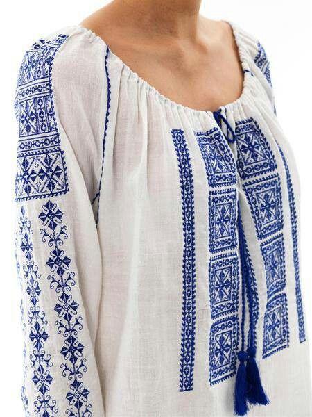 Looks like a Romanian blouse :)