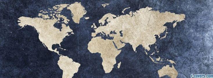 vintage world map facebook cover