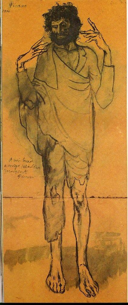 Pablo Picasso, El Loco, 1904. One of my favorites. Wonderful gesture.