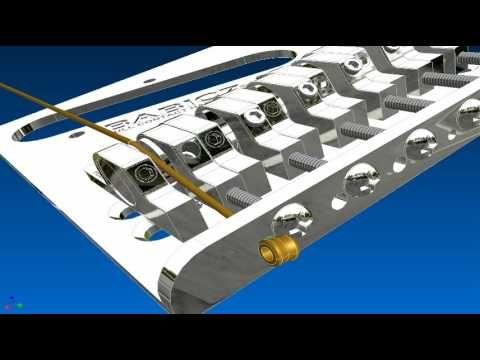 Babicz Full Contact Hardware String Adjustment on Telecaster Bridge