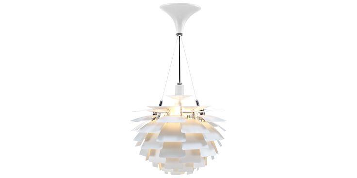 Konglen - 48 cm hvit  - Aluminium - Hvit