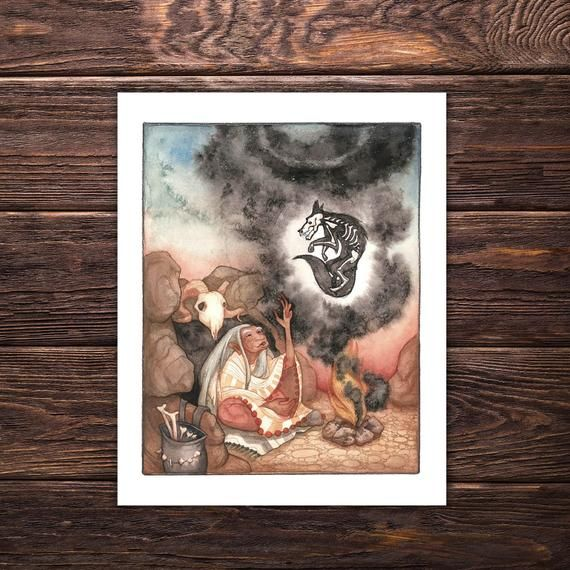 Art Print La Loba Wicca Decor