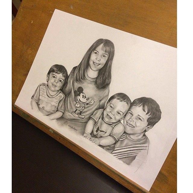 Commission Piece #siblings #commission #sketch #portrait