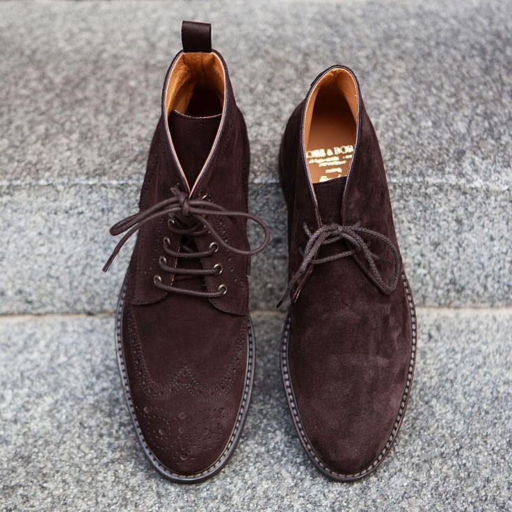 Just Got A Restock On Some Of Our Shoe Models And A New Addition. A New  Sturdy Boot In Dark Brown Calf Suede