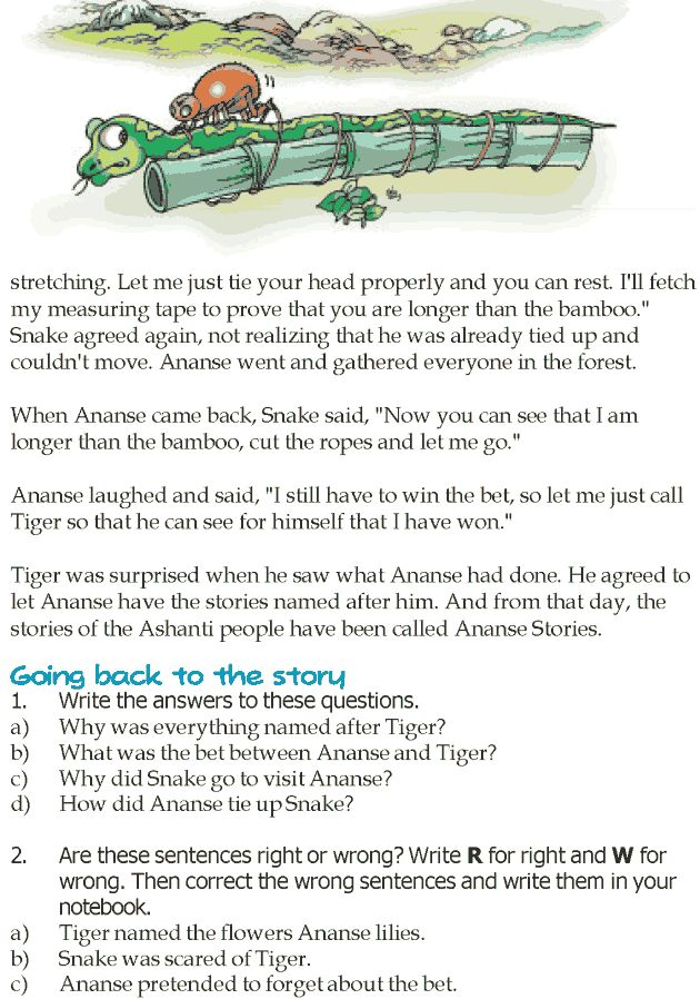 Grade 5 Reading Lesson 12 Fables And Folktales - Ananse The Spider (2)