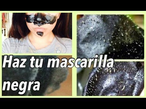 Haz tu propia mascarilla negra/Dile adiós a los puntos negros/ Black mask ❤ - YouTube