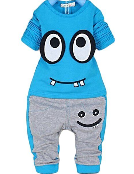 your toddler in his outfit