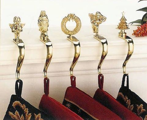 14 best brass gift ideas images on pinterest solid brass for Brass stocking holders fireplace