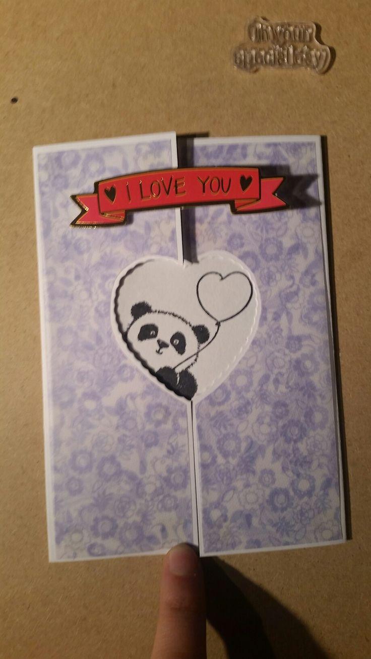 Husband to wife anniversary card. 3 of 3 in panda theme