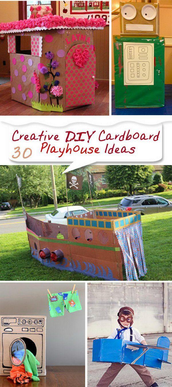 Creative DIY Cardboard Playhouse Ideas!