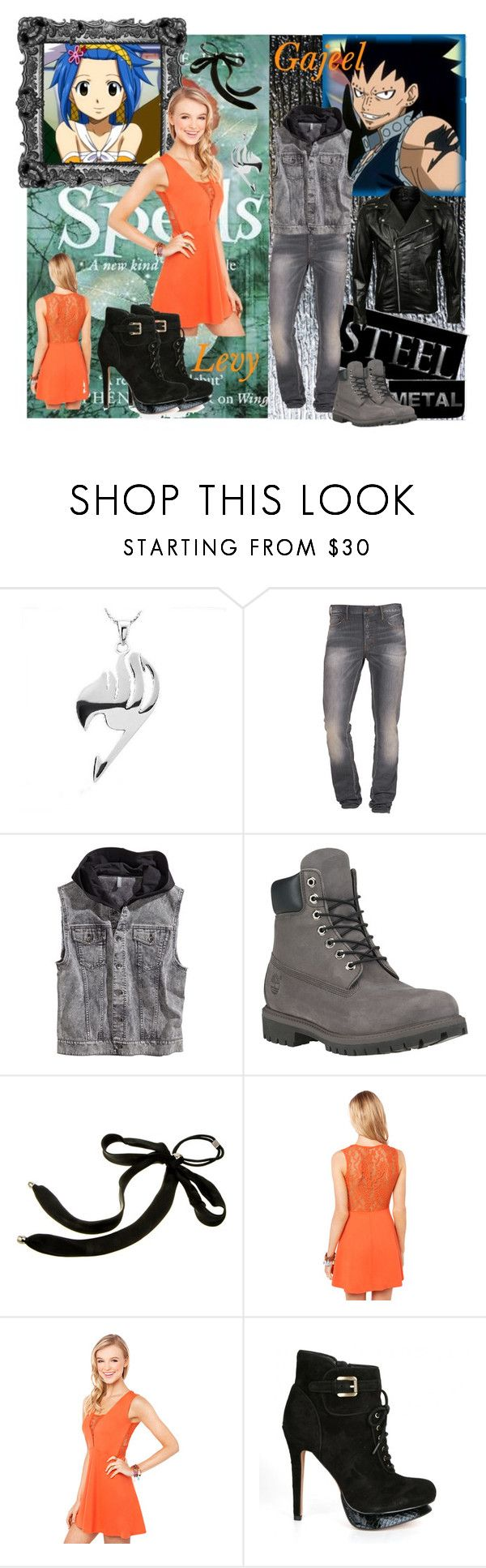 """A New Kind Of Fairy Tail<3"" by bluerose423 ❤ liked on Polyvore featuring Laurèl, PRPS Goods & Co., H&M, Timberland, Colette Malouf, Akira, Sam Edelman, VIPARO, love and anime"