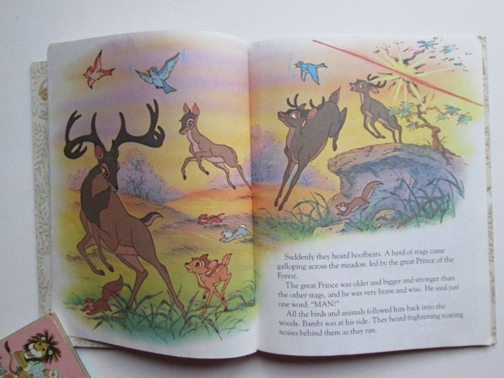 A Little Golden Book Bambi Walt Disney Libro De Oro Ingles