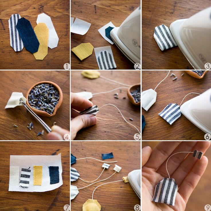 DIY: miniature tea bag shaped sachet PD