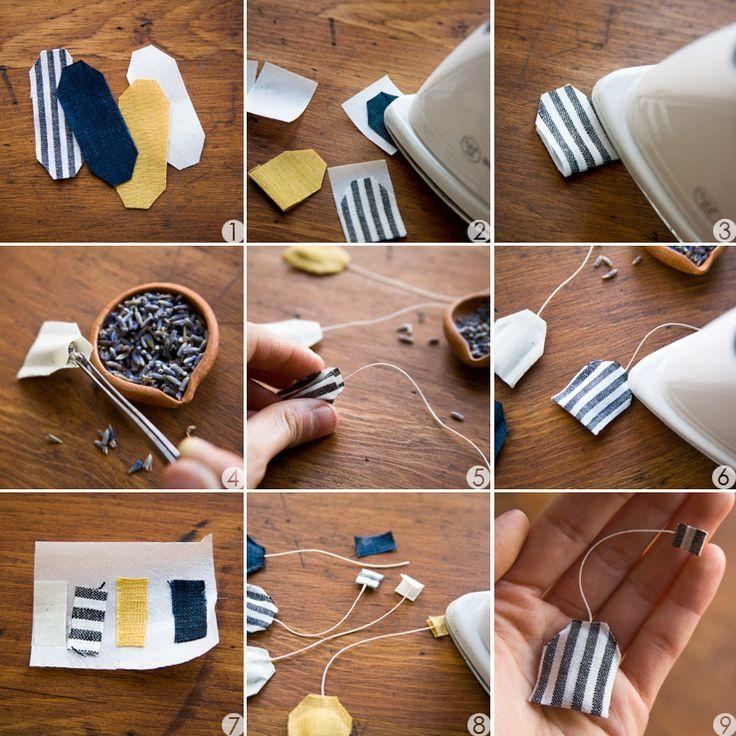 DIY: miniature tea bag shaped sachet PD
