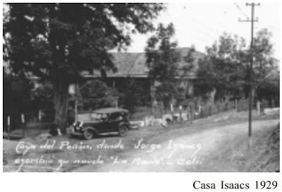 """Casa del Peñón. donde Jorge Isaacs escribió su novela """"La María"""". Cali.  Tomada de: http://idesc.cali.gov.co/download/Plan_Especial_de_Proteccion_Patrimonial_Inmueble/1_Diagnostico_Plan_Especial/plan_especial_manejo_patrimonio_cultural_inmueble.pdf ."""