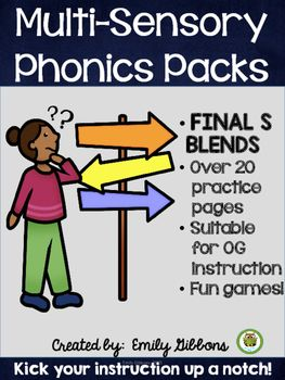 Final S Blends Phonics Practice
