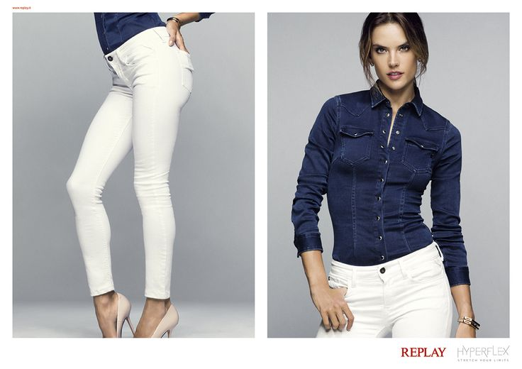 Hyperflex jeans Campaign. Can you #StretchYourLimits better than #AlessandraAmbrosio?