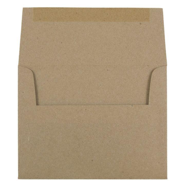 Brown A2 Envelopes - 4 3/8 x 5 3/4