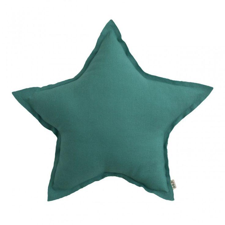 Coussin étoile Bleu turquoise Numero 74 - Décoration - Smallable