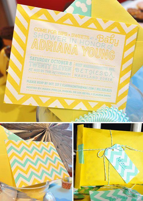 frisk og gul invitasjon
