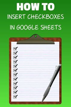 How to Insert Checkbox in Google Sheets