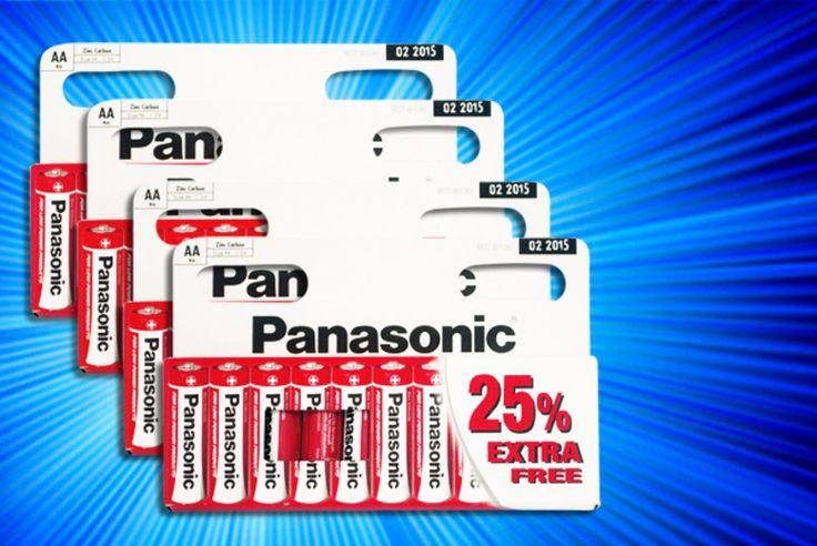 20, 30 or 40 AA Panasonic Batteries