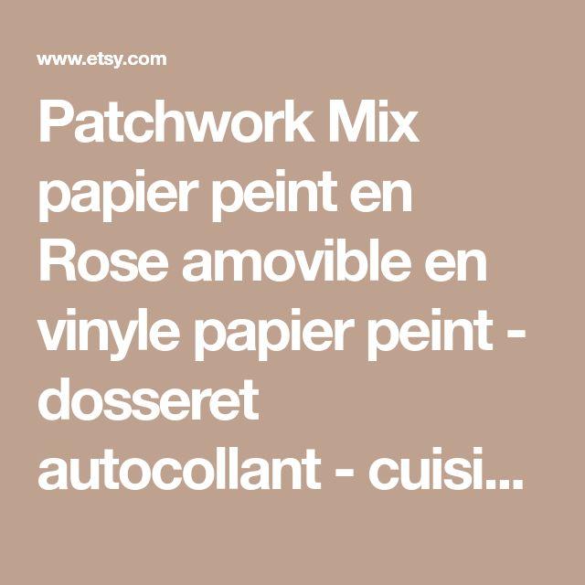 Patchwork Mix papier peint en Rose amovible en vinyle papier peint - dosseret autocollant - cuisine Sticker Mural