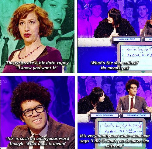 """When the contestants discussed Robin Thicke's hit song """"Blurred Lines"""". 