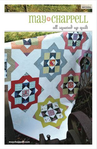 A fun take on the dresden block , this pattern includes directions for wall hanging through king sizes.