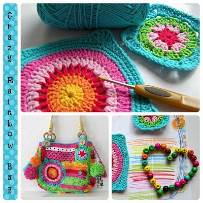 Crazy rainbow bag I love the work of Vendulka it is Always beautiful and colorful.