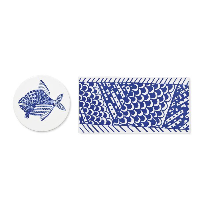 Podkładki ceramiczne w stylu morskim przydadzą się nie tylko marynarzowi! #tigerpolska #tigerstores #ryba #fish #sea #morze #river #rzeka #ocean #fishdesign #design #prop #podkładka #podherbatę #podkubek #bluefish