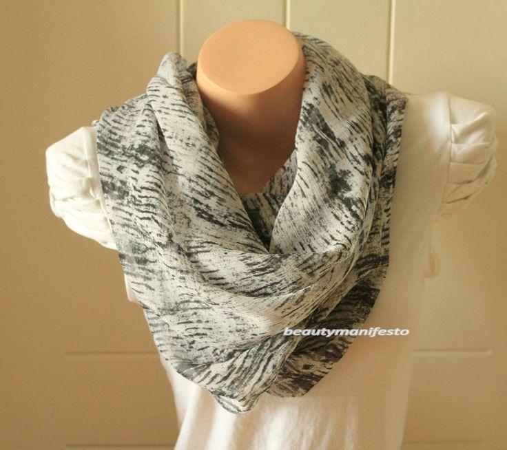 Hand Dyed Silk Scarf,Black and white bar Silk Scarf,Handmade Scarf.Bridesmaid gift , Women Fashion Scarf Accessorie