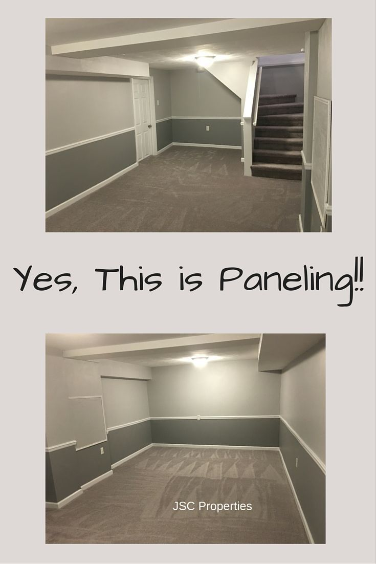 You Can Keep That Paneling And Make It Look Awesome This Was Primed With Oil Based Kilz Then A T Chair Rail Chair Rail Paint Ideas Dining Room Paint Colors