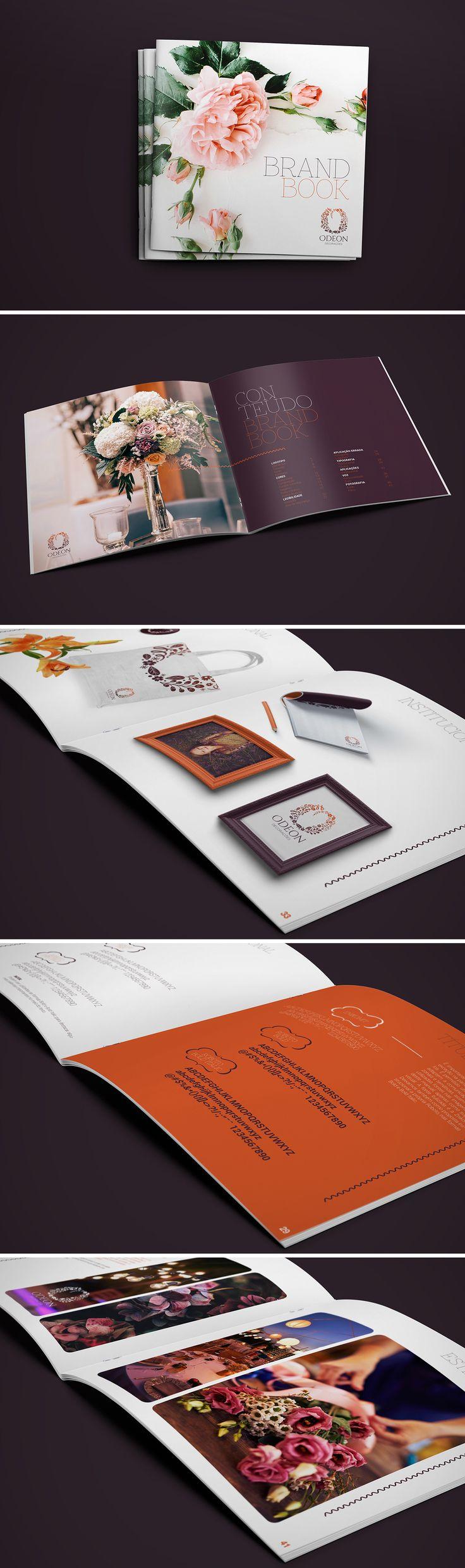 Brandbook Odeon Decorações Criação do brandbook da empresa de decorações Odeon.