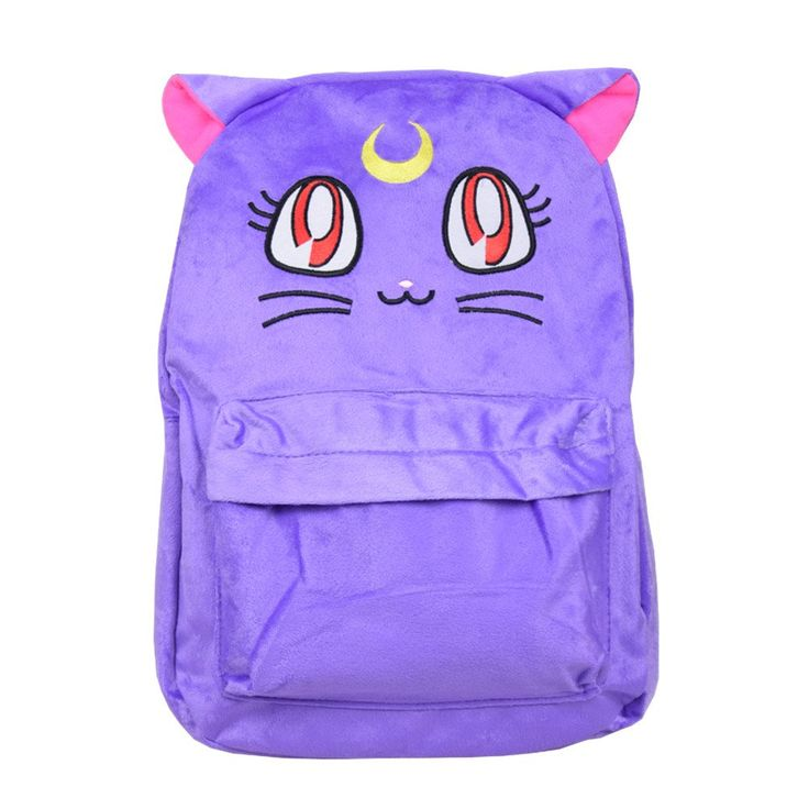 Sailor Moon Luna Fluffy Plush Backpack SP130267 - SpreePicky  - 2