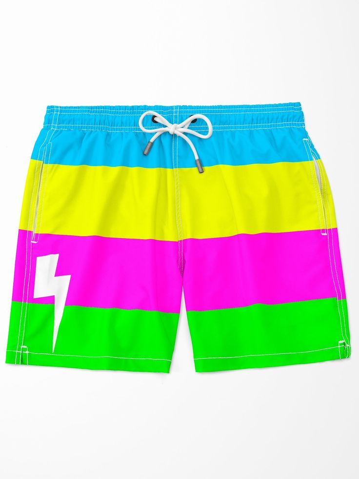 EDC outfit Men/'s Neon and Black Stripe Mesh Trunk burning man men/'s pole dance EDM men/'s booty short with pouch