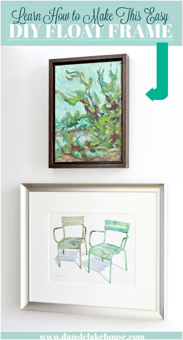 Easy DIY Floating Frame Tutorial - Learn How to Frame Your Art for ...