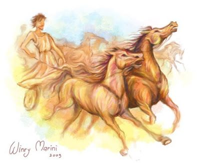 Art and Lore: Olympics Horse Racing