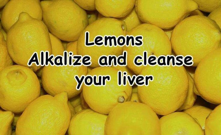 Lemons cleanse your liver