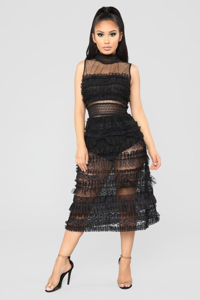 2ada6968bc07 Do You Dirty Ruffle Dress - Black in 2019 | Fashion Nova | Dresses |  Dresses, Ruffle dress, Fashion