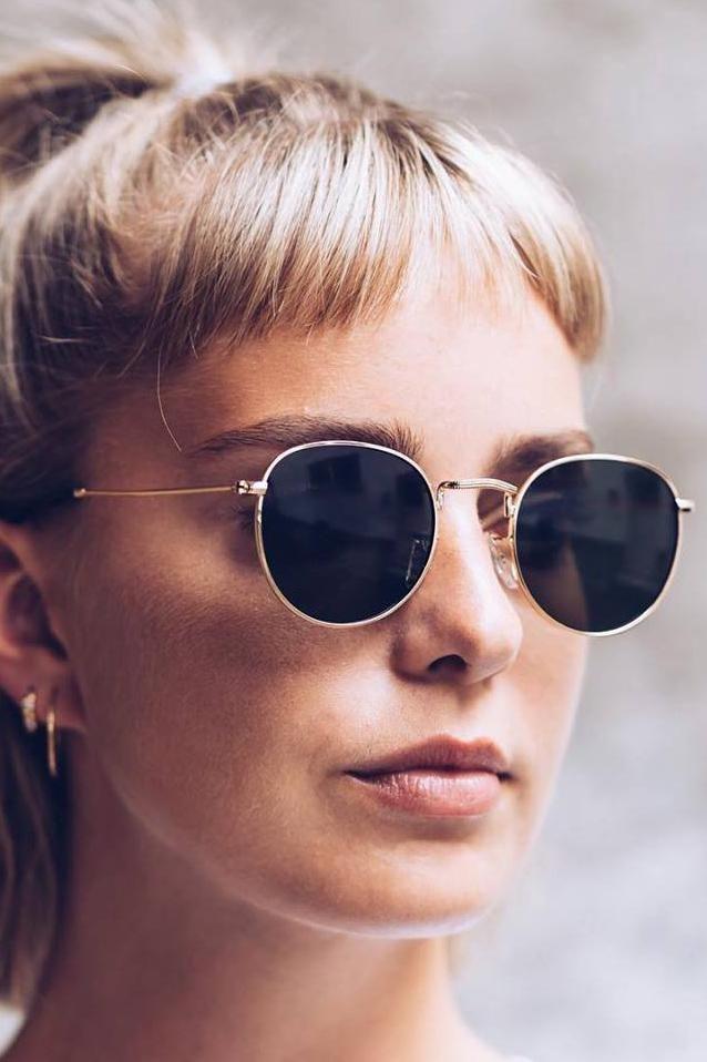 A.Kjaerbede Sunglasses Hello Gold Round Sunglasses